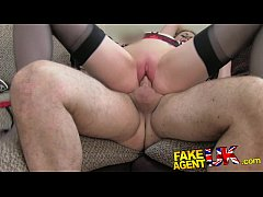 FakeAgentUK Creampie for hot european girl that...