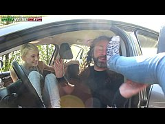 The First Time Of Valeria - Foot Domination Inside the Car