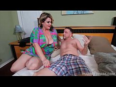 Sexy BBW MILF Fucks Sons Friend After Wild Party