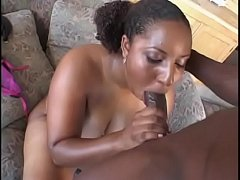 Curvy Candice gets nailed on the couch after BJ