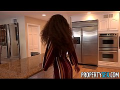sexy petite real estate agent with rocking tight body seduces potential client into selling his house