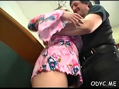 Hot-tempered Jenny with massive natural tits gets hard fuck