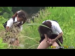 Naughty japan teens pee...