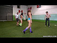 thumb booty soccer wi  th remy lacroix and jada stev x and jada steve and jada steven