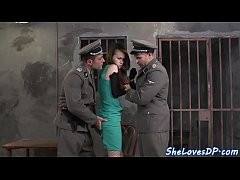 European babe pounded in...