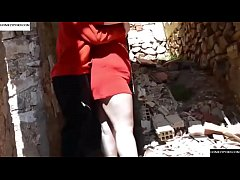 The chubby red among ruins. JAV060