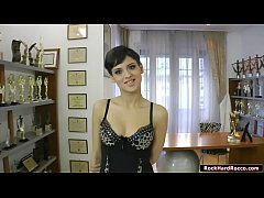 Fashion model babe fucked by Roccos dick