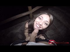 After a good cup I make a good blowjob amateur public on the street