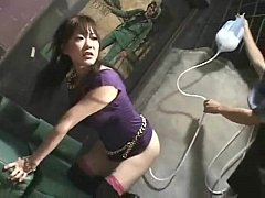 Japanese girl dancing enema