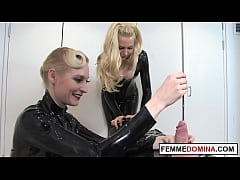 Mean urethra fucking given by kinky british dommes