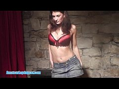 Czech gogo hottie lapdances for a stranger