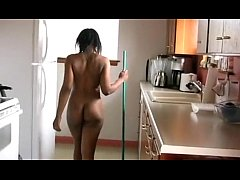 Told my maid to work naked