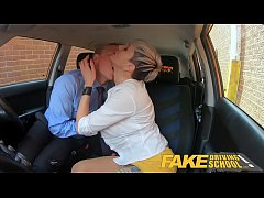 Fake Driving School Horny boss can't resist Tanya's pussy and tits