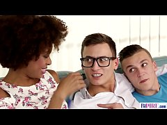 Interracial bisexual threesome - Luna Corazon, Peter and Charlie Dean