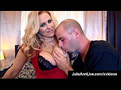 Dick Starved Cougar Julia Ann Pleases 2 Lucky H...
