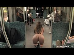 Clip sex Busty Euro babe d. naked in bus