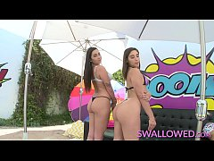 SWALLOWED Abella Danger and Karlee Grey blowing and gagging