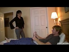 His HOT Step Mom is PISSED! Punishes him with H...