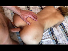 Girlfriend Passionate Blowjob and Doggy Fuck - Cum on Ass