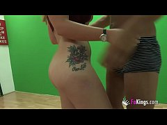 Tricking busty teen Lucia Fernandez into filming a fake videoclip and being fucked by Ricky