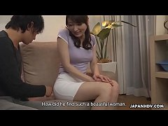 Japanese housewife, Noeru Mitsushima was being a real slut, uncensored