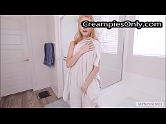 TEEN SISTER HANNAH HAYS GET CREAMPIED BY STEP BROTHER