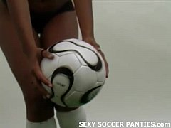 hot black football player shows off