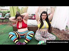 Curvaceous Cuban Angelina Castro finger bangs with BBWs Sofia Rose & Vanessa London until all three plump pussies cream their curvy cunts! Full Video & Angelina Live @ AngelinaCastroLive.com!