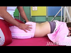 Japanese av model has a great massage before fi...