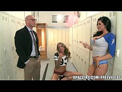Brazzers - Locker room threesome...