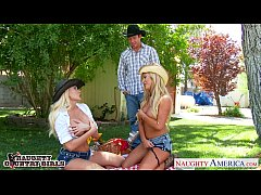 Sexy country girls Summer Brielle and Tasha Reign sharing cock