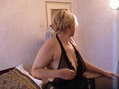 Russian Blonde Mom and...