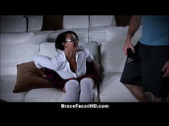 Thick Black Teen Schoolgirl With Braces Emori Pleezer Fucked By White Guy From School Who She Was Tutoring