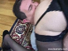 Man seems hungry as he's gone crazy licking mistress' ass