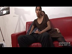 Casting couch amateur french couple with a skin...