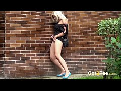 Stoodup Pissing In Public By Cute Blonde