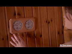 thumb blowjob babe  veronica morre discovers glory hole in sauna