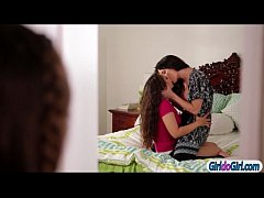 Angela Sommers sits on stepteens face
