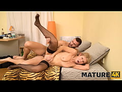 MATURE4K. Man is here to please mature woman nailing the hungry pussy