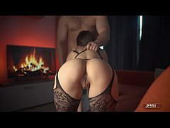 Brunette step sister with tight pussy rides ste...