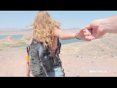 Accidental Creampie with Innocent Girl Fucked Hard at the Lake POV - Molly Pills - Horny Hikers Public Sex with Amateur Natural Tits Big Booty Blonde Hot College Student HD 1080p