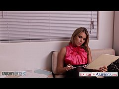 Busty Courtney Cummz gets facialized in the office