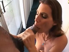 Clip sex Playful brunette Cherie can't let guy living next door go to work without sucking his big black sausage