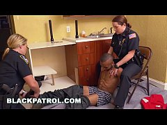 BLACK PATROL - Badass MILF Cops Squatting On A ...