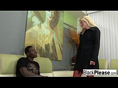 Blonde babe gets analized by a black cock