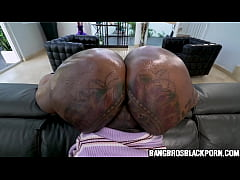 Black milf with a huge butt gets fucked by a wh...