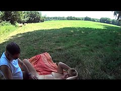 Suzisoumise naked in a field