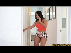 Bigtits stepmom drilled by stepsons juicy man meat from behind!