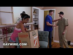 GAYWIRE - Mover Fucks Client...