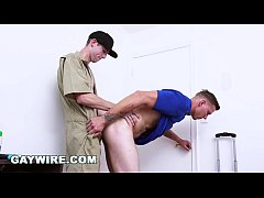 GAYWIRE - Mover Fucks Client Raw While The Girl...